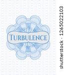 light blue money style rosette... | Shutterstock .eps vector #1265022103