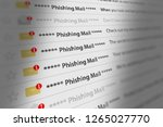 close up shot of phishing mail...