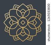 beautiful golden decoration... | Shutterstock .eps vector #1265033830