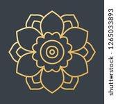beautiful golden decoration... | Shutterstock .eps vector #1265033893
