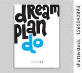 dream plan do   poster with... | Shutterstock .eps vector #1265042893