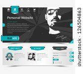 website template for personal... | Shutterstock .eps vector #126504863