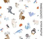 wild north pole animals... | Shutterstock .eps vector #1265053846