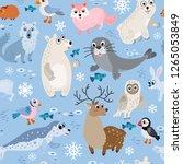 wild north pole animals... | Shutterstock .eps vector #1265053849
