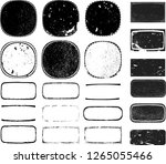 grunge post stamps collection ... | Shutterstock .eps vector #1265055466