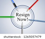 resign now means quit or... | Shutterstock . vector #1265057479
