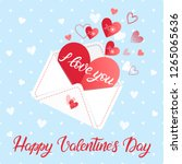 love letter with lettering and... | Shutterstock .eps vector #1265065636