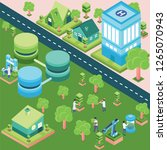 forest and city isometric | Shutterstock .eps vector #1265070943