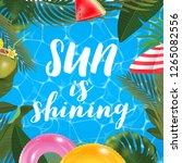 sun is shining message on... | Shutterstock .eps vector #1265082556