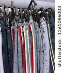men's sports pants  stripy...   Shutterstock . vector #1265086003