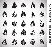 flame icon set on white...   Shutterstock .eps vector #1265086870
