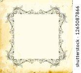 baroque decorations element...   Shutterstock .eps vector #1265087866