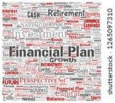 vector conceptual business or... | Shutterstock .eps vector #1265097310