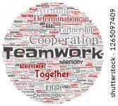 vector conceptual teamwork...   Shutterstock .eps vector #1265097409