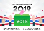 thailand general election 2019... | Shutterstock .eps vector #1265099056