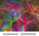 abstract digital fractal ... | Shutterstock . vector #1265103520