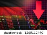 germany stock exchange crisis... | Shutterstock . vector #1265112490