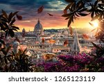 beautiful sunset on the city of ... | Shutterstock . vector #1265123119