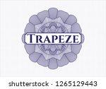blue passport style rosette... | Shutterstock .eps vector #1265129443