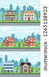 set of three illustrations of... | Shutterstock . vector #1265138923
