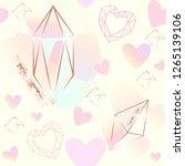 seamless pattern. pink hearts ... | Shutterstock .eps vector #1265139106