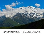 peaks of the french alps  mont... | Shutterstock . vector #1265139646