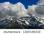 french alps in the clouds  mont ... | Shutterstock . vector #1265140210