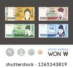 "south korean bills  krw  ""fifty ... | Shutterstock .eps vector #1265143819"