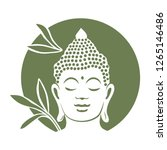 buddha with bamboo plants in... | Shutterstock .eps vector #1265146486