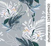 floral seamless pattern with... | Shutterstock .eps vector #1265149420