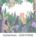 exotic tropics. leopard in the... | Shutterstock . vector #1265176540