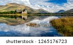 The ruins of Kilchurn castle are on Loch Awe, the longest fresh water loch in Scotland. It can be accessed on foot from Dalmally road on the A85. This image was taken from the opposite bank.