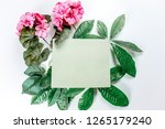 green sticky note with green... | Shutterstock . vector #1265179240
