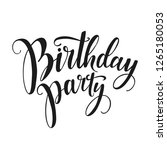 birthday party vector lettering ... | Shutterstock .eps vector #1265180053
