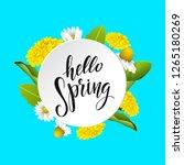hello spring vector lettering... | Shutterstock .eps vector #1265180269
