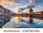 beautiful historic city center... | Shutterstock . vector #1265181466