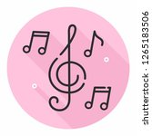 vector music icon notes and... | Shutterstock .eps vector #1265183506
