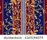 baroque striped seamless... | Shutterstock .eps vector #1265196079