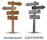 gray scaled and brown textured... | Shutterstock .eps vector #1265196490