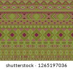 peruvian american indian... | Shutterstock .eps vector #1265197036