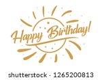 happy birthday card. beautiful... | Shutterstock .eps vector #1265200813
