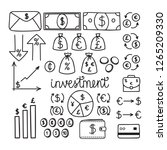 hand drawn financial investment ... | Shutterstock .eps vector #1265209330