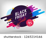 black friday sale abstract...   Shutterstock .eps vector #1265214166