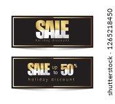 golden design for promotional... | Shutterstock .eps vector #1265218450