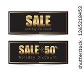 golden design for promotional... | Shutterstock .eps vector #1265218453