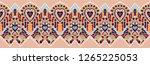 ikat geometric folklore... | Shutterstock .eps vector #1265225053