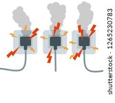 overloading the mains voltage.... | Shutterstock . vector #1265230783