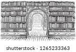 library book shelf interior... | Shutterstock .eps vector #1265233363