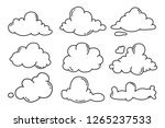 hand draw the weather... | Shutterstock .eps vector #1265237533