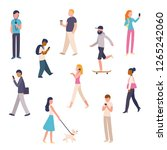 diverse set of urban people... | Shutterstock . vector #1265242060